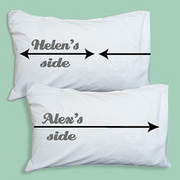 Personalised My Side / Your Side Pillowcases