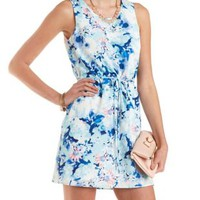 Floral Print Shift Dress by Charlotte Russe