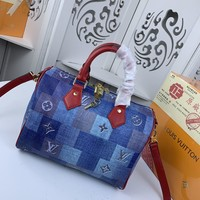 Kuyou Gb229916 Lv Louis Vuitton M40391 Lv Patchwork 2020 Handbag Top Handle 25x19x15cm