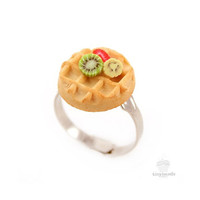 Custom Scented Fruit on Waffle Ring - Food Jewelry