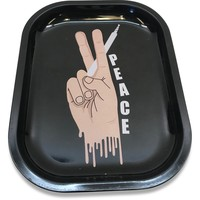Designed Metal Rolling Tray (Mini) - Peace