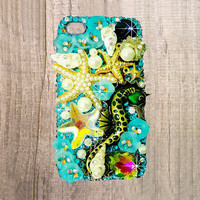 iPhone 6 case, iPhone 6 plus case, iPhone 6 plus bling case, iphone 6 bling case starfish, cute iphone 6 case seahorse, bling iphone 5s case