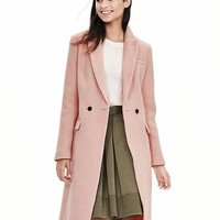 Banana Republic Pink Double Breasted Coat