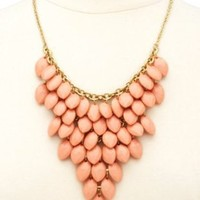 Clustered Faceted Bead Bib Necklace by Charlotte Russe