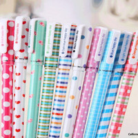 10pcs Colourful Pen Set, Kawaii Stationery, Korean Stationery, Gel Pen Set, Scrapbooking Supplies - PEN003