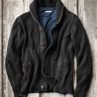 Effortlessly Cool Men's Sweaters - Credential Sweater - Carbon2Cobalt