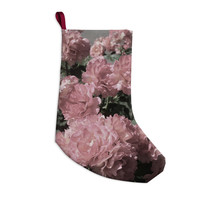 """Susan Sanders """"Blush Pink Flowers"""" Floral Photography Christmas Stocking"""