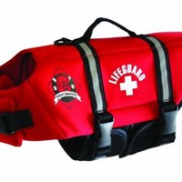 Fido Pet Products Paws Aboard Neoprene Doggy Life Jacket, Medium, Red