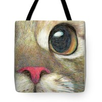 """The Face Tote Bag 18"""" x 18"""""""