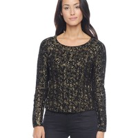 Cropped Foil Printed Swtr by Juicy Couture