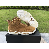 2018 air jordan retro 6 Wheat Golden Harvest Basketball Shoes Trainer Sneakers