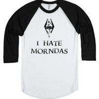 I Hate Morndas - Skryim-Unisex White/Black T-Shirt