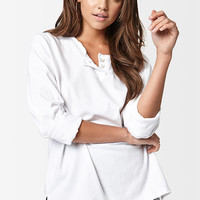 Michelle by Comune Holly Long Sleeve Henley Top at PacSun.com