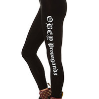 The Obey Old English Legging in Black