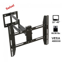 Articulating Swivel Tilting 19-40inch 66.98lbs LCD LED Monitor TV Wall Mount Bracket Black - Default
