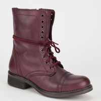 Steve Madden Troopa 2.0 Womens Boots Wine  In Sizes