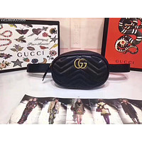 GUCCI GG MARMONT LEATHER WAIST PACK CROSS BODY BAG