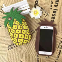 Iphone 6/6s Stylish On Sale Cute Hot Deal Strong Character Pineapple Innovative Silicone Phone Case [6420303940]