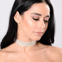 100 Voicemail's Choker - Silver