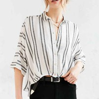 Silence + Noise Bombero Striped Button-Down Shirt