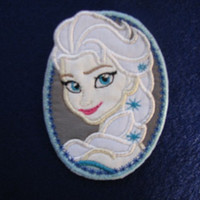 Elsa Disney Frozen Iron on No Sew Embroidered Patch Applique