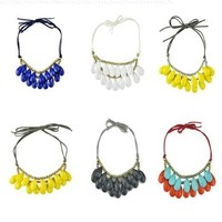 Bib Necklace Bubble Necklace Drop Necklace Statement Jewelry(Fn0567)