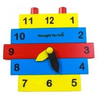 Build a Clock - Learn to Tell Time Wooden Toy Puzzle