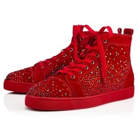 Christian Louboutin CL Galaxtidude Flat Rougissime Suede 17s Sneakers Best Deal Online