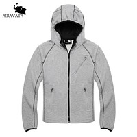 Design Clothing Men Hoodies Man Sweatshirt Contrast Color Hood Cotton Outerwear Hoodie