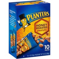 Planters Honey Roasted Peanuts, 1 oz, 10 count - Walmart.com