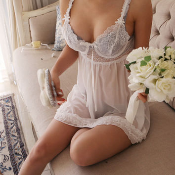 Sheer Lace Camisole Dress