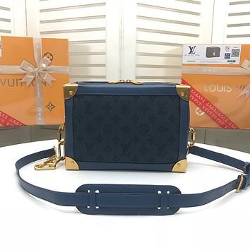 LV Louis Vuitton MONOGRAM DENIM Soft Trunk INCLINED SHOULDER BAG