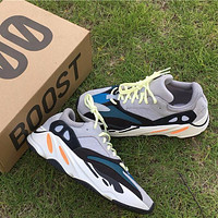 Kanye West x Adidas Yeezy 700 Boost Mgh Sold Grey / Chalk White / Core Black Sport Shoes Running Shoes YH - 0033B