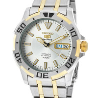 Seiko Men's Automatic Two Tone with Silver Tone Dial and Two Tone BezelSeiko SNZJ42K1 Watch