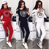 FENDI Fashion Casual Print Hoodie Top Sweater Pants Trousers Set Two-piece