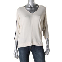 Lauren Ralph Lauren Womens Knit Colorblock Knit Top