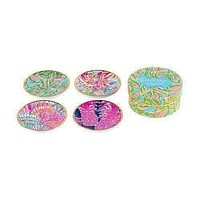 Ceramic Coaster Set in In the Bungalows by Lilly Pulitzer