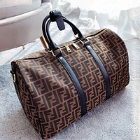 FENDI Luggage Bag Travel Bag Fashion Big Bag Print Tote Handbag