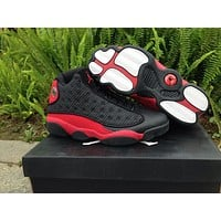 Air Jordan 13 black/red Basketball Shoes 36-46
