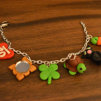 One Direction polymer clay charm bracelet