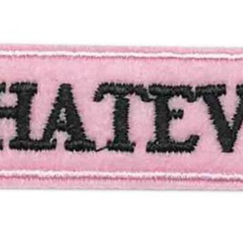 WHATEVER Iron on Patch