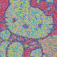Hello Kitty PEZ Candy incredible Mosaic candies print