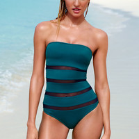 Mesh-inset Strapless One-piece - Forever Sexy - Victoria's Secret