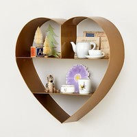 Heart of Gold Wall Shelf in Shelves & Hooks | The Land of Nod