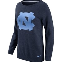 Nike Women's North Carolina Tar Heels Navy Champ Drive Boyfriend Crew Sweatshirt | DICK'S Sporting Goods