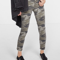 mid rise camouflage print ankle jean legging
