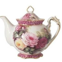 roses-and-teacups.com - Summer Rose Teapot