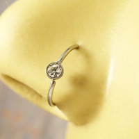 Crystal Nose Hoop or Cartilage Hoop Ring