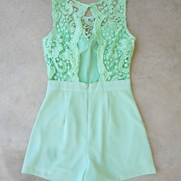 Stillwater Lace Romper [7086] - $46.00 : Feminine, Bohemian, & Vintage Inspired Clothing at Affordable Prices, deloom