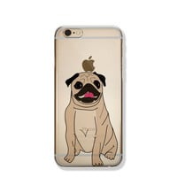 Pug iPhone 6 Case Animal Clear iPhone 6s Case Clear iPhone 6 Case iPhone 5 SE Case iPhone 6s Plus Case Soft Silicone iPhone Case No: 99